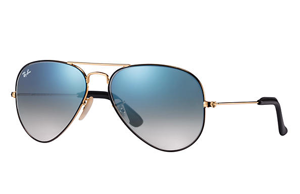 This is the style that started it all. The original Ray-Ban metal aviator in gold with brown gradient lenses that keep undesirable light from reaching your eyes. Ray-Ban consistently combines great styling with exceptional quality, performance and comfort.