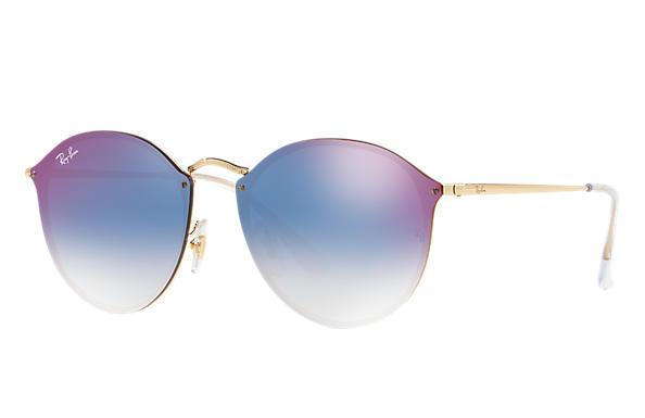 he Ray-Ban Round Blaze Gold RB3574N 001/71 59-14 Sunglasses are finally available.